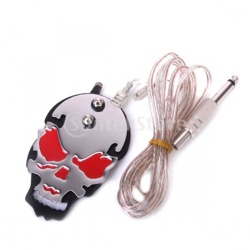 Foot Switch Skull Red